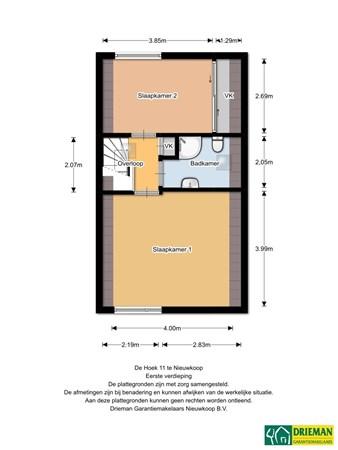 Floorplan - De Hoek 11, 2421 HP Nieuwkoop