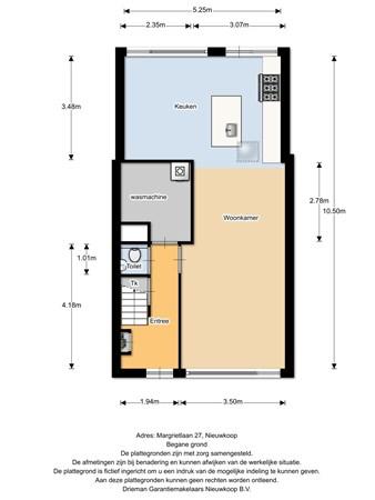 Floorplan - Margrietlaan 27, 2421 CM Nieuwkoop