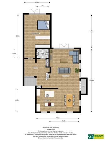 Floorplan - Dorpsstraat 20, 2421 BA Nieuwkoop