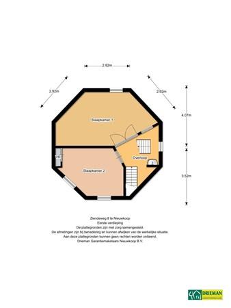 Floorplan - Ziendeweg 8A, 2421 NC Nieuwkoop