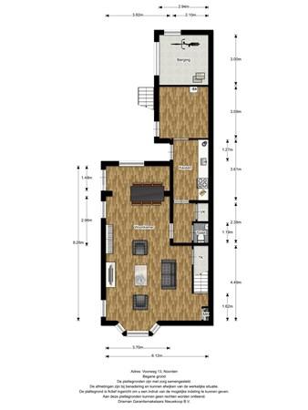 Floorplan - Voorweg 13, 2431 AL Noorden