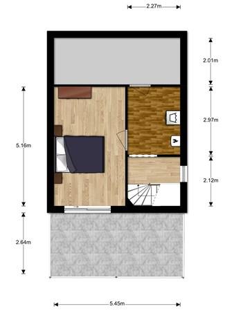 Floorplan - Pyreneeënstraat 5, 3446 DD Woerden