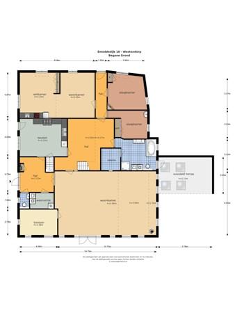 Floorplan - Smoddedijk 10, 7054 AC Westendorp