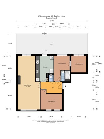 Floorplan - Wijnmalenstraat 15, 1171 ER Badhoevedorp