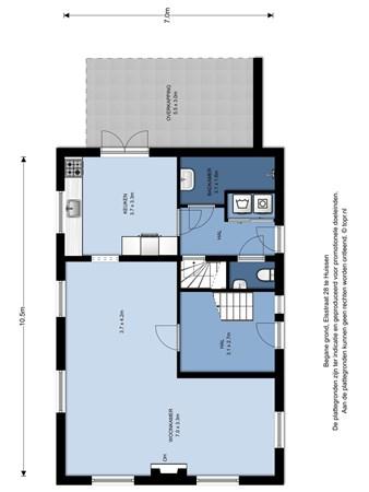 Floorplan - Elsstraat 28, 6851 HE Huissen