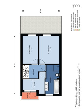 Floorplan - Binnenveld 8, 6851 NE Huissen