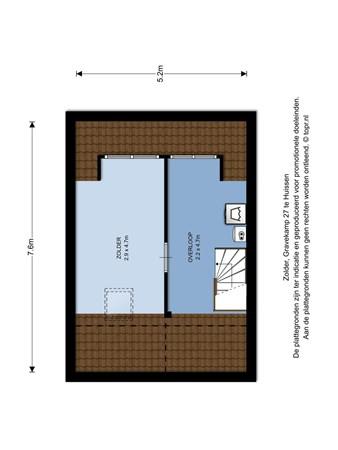 Floorplan - Gravekamp 27, 6851 NH Huissen