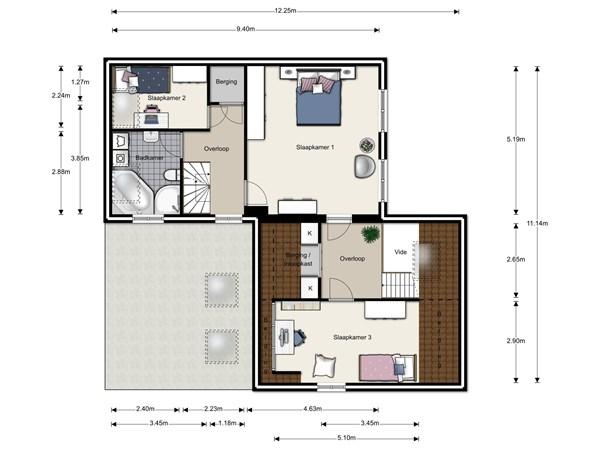 Floorplan - Gerst 2, 6581 RD Malden