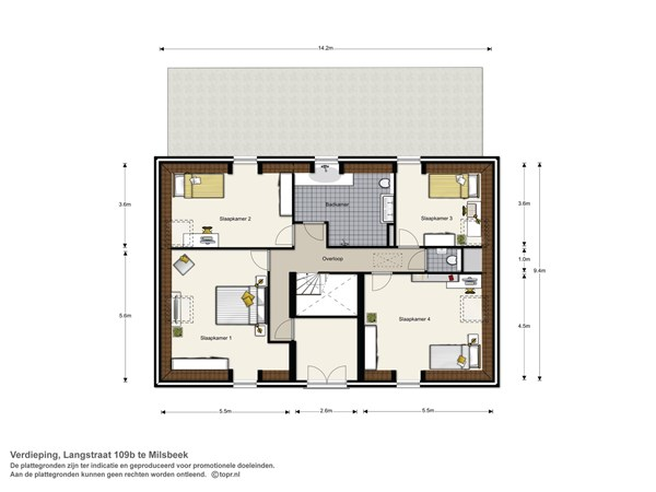 Floorplan - Langstraat 109b, 6596 BN Milsbeek