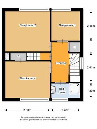 Floorplan - Sirtemalaan 11, 5361 JX Grave