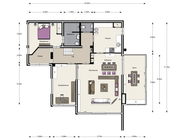 Floorplan - Willem Schiffstraat 11, 6525 BP Nijmegen