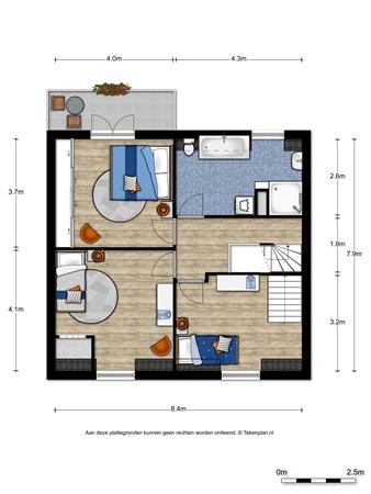 Floorplan - Nieuwe Holleweg 25, 6573 DT Beek