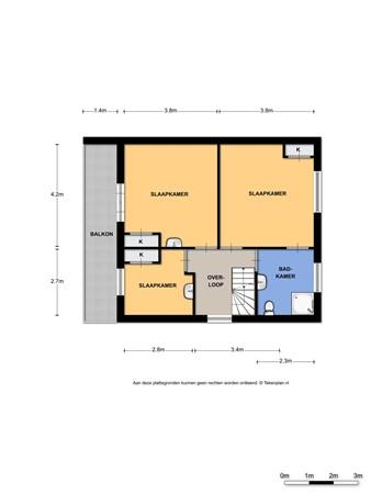 Floorplan - Heyendaalseweg 64, 6524 SR Nijmegen