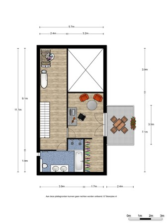 Floorplan - Gladiusstraat 23, 6515 JP Nijmegen