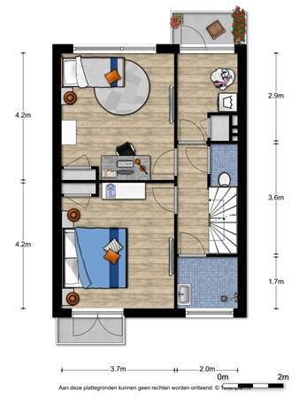Floorplan - Bredestraat 38, 6542 SV Nijmegen