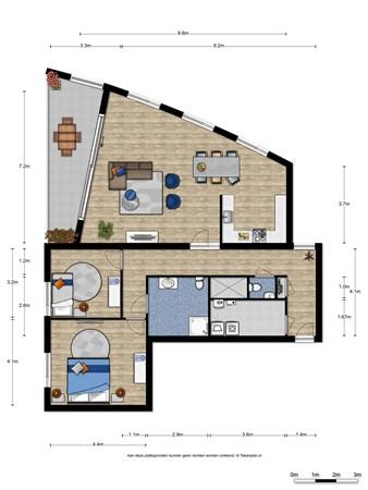 Floorplan - Waalbandijk 63, 6541 AJ Nijmegen