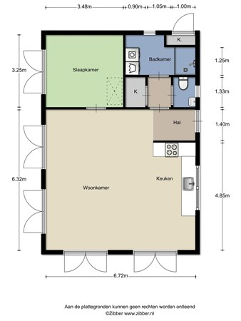 Floorplan - Gagelmaat 6-11, 9431 KT Westerbork