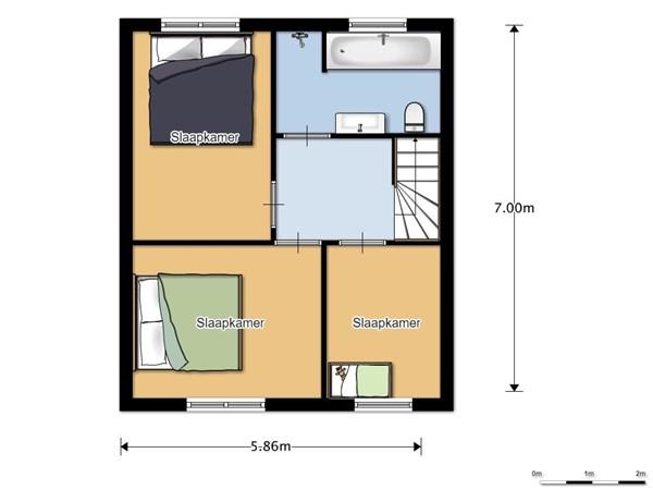 Floorplan - Ericalaan 54, 7906 NE Hoogeveen