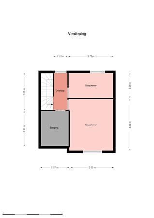 Floorplan - Beukemaplein 19, 7906 AK Hoogeveen