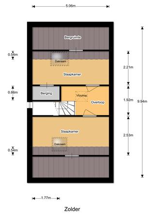 Floorplan - Weegbree 7, 7944 PX Meppel