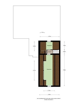 Floorplan - Hoge Dijk 22, 4909 BM Oosteind