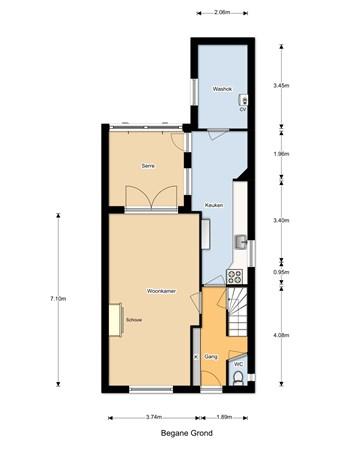 Floorplan - Eikenstraat 54, 5104 CD Dongen