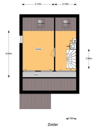 Floorplan - Hoevenaarsstraat 7, 5126 GN Gilze