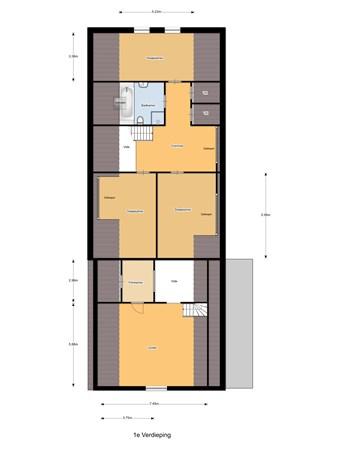 Floorplan - Breedstraat 6, 5105 AE Dongen