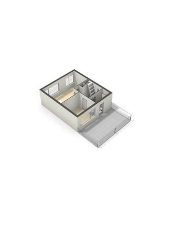 Floorplan - Cort van der Lindenstraat 24, 5121 HV Rijen