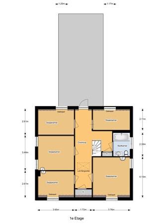 Floorplan - Julianalaan 32, 5109 RJ 's Gravenmoer