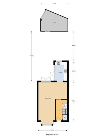 Floorplan - Lisztstraat 12, 5102 XC Dongen
