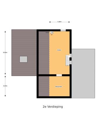 Floorplan - Modestusstraat 1, 5101 BP Dongen