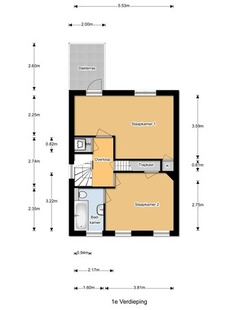 Floorplan - Wandelweg 109, 1521 AD Wormerveer