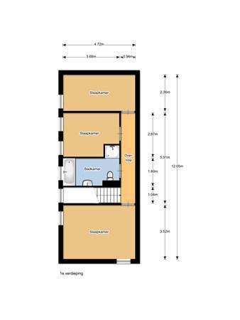 Floorplan - Lisdodde 52, 8043 NT Zwolle