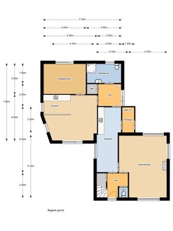 Floorplan - Nieuwlandsweg 15, 8091 HK Wezep