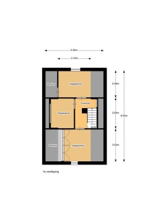 Floorplan - Zuiderzeestraatweg 583, 8091 CR Wezep