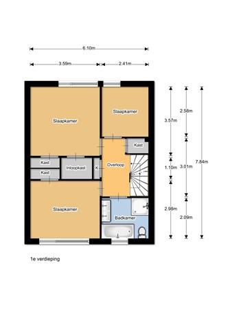 Floorplan - Irenelaan 1, 8181 AV Heerde
