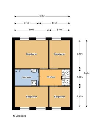 Floorplan - Spoorlaan 17, 8091 JA Wezep