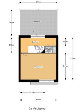 Floorplan - Johannes Vermeerhage 45, 3437 NM Nieuwegein
