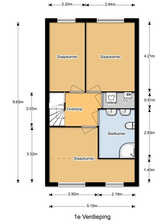 Floorplan - Bogenburg 11, 3437 RG Nieuwegein