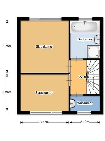 Floorplan - Dokter B.J.Buurmanstraat 18, 3433 AP Nieuwegein