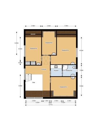 Floorplan - Ingelandsweide 13, 3437 CC Nieuwegein