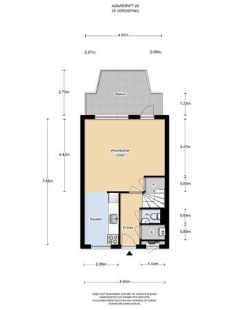 Floorplan - Agaatdrift 29, 3436 BT Nieuwegein