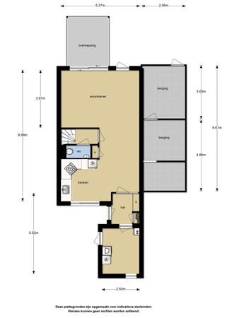 Floorplan - Oostercluft 498, 8332 DS Steenwijk