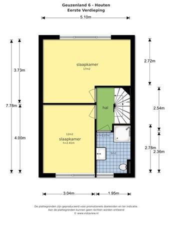 Floorplan - Geuzenland 6, 3994 TG Houten