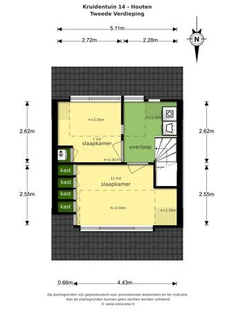 Floorplan - Kruidentuin 14, 3994 ZD Houten