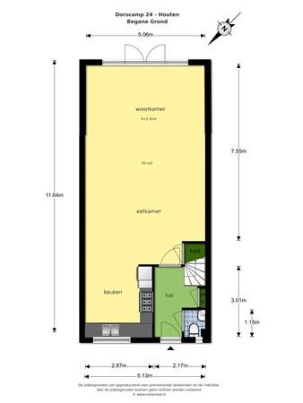 Floorplan - Dorscamp 24, 3992 BP Houten