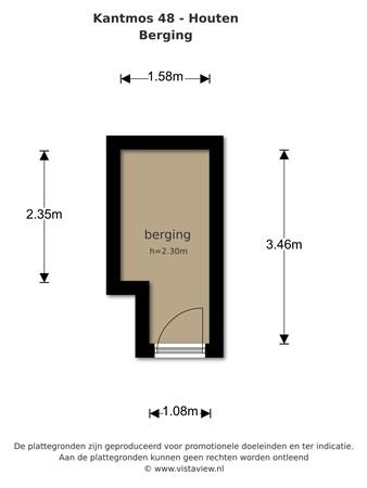 Floorplan - Kantmos 48, 3994 KJ Houten