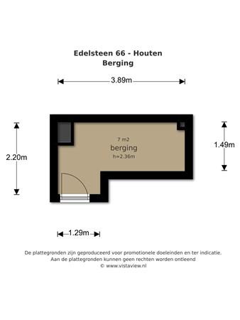 Floorplan - Edelsteen 66, 3991 SC Houten