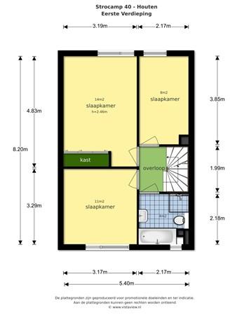 Floorplan - Strocamp 40, 3992 BV Houten